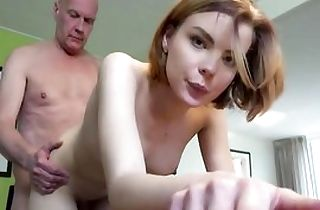 Young stunner gets fucked hard by old man