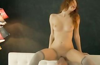 Beauiful youthful passionate busty redhed pulverized