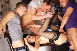 Gang-fuck porno affectation be useful to filamentous Taissia-Shanti
